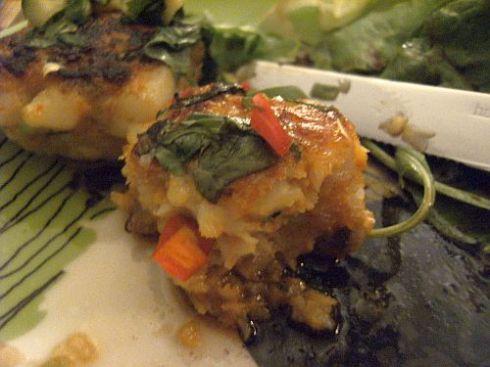 fishcakes half eaten nom nom